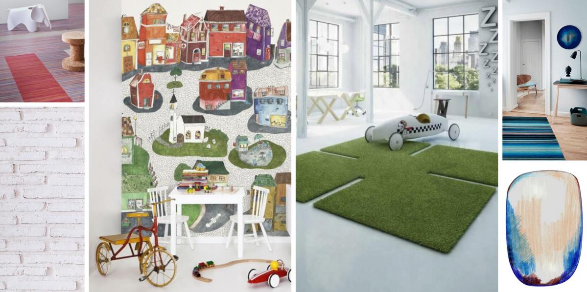Povrchy na míru dětem: podlahy, koberce a stěny versus dětský pokoj