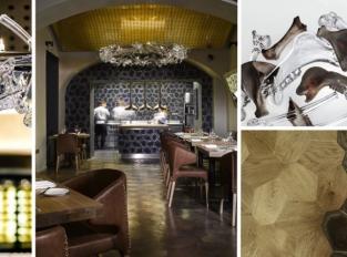 La Degustation Bohême Bourgeoise v novém: Lustr z kostí a židle z kůže