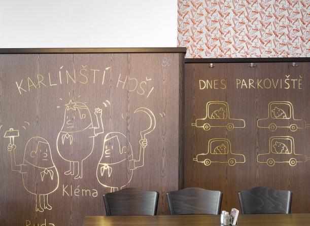 Bar / restaurace / café - Pátý ilustrovaný Lokál v Praze