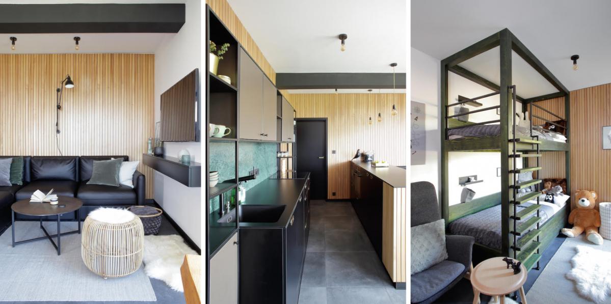 Horský apartmán na Klínovci definují zelené detaily