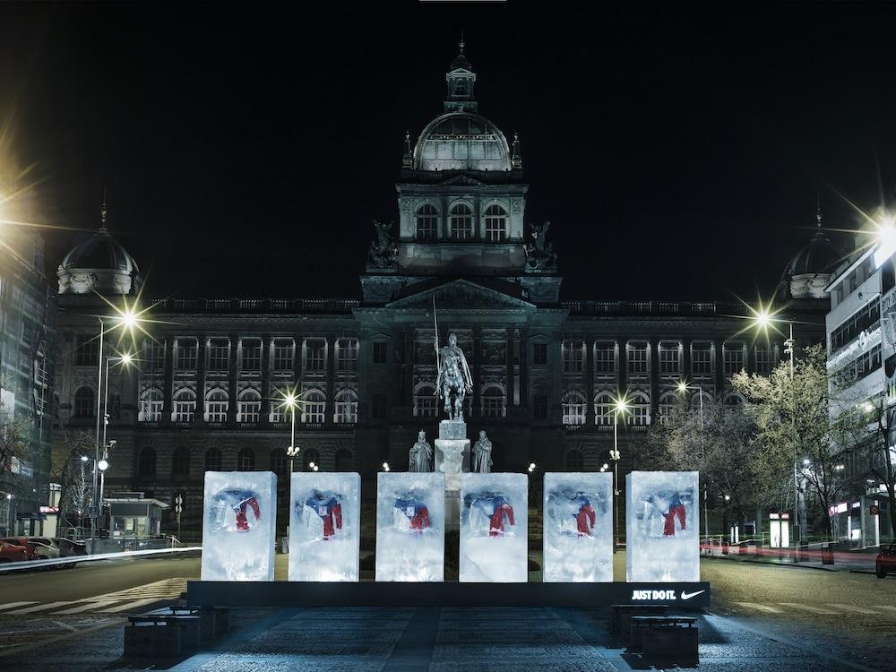 Ledy na Václavském náměstí