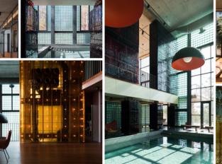 Barevné sklo jako působivá dominanta industriálního interiéru