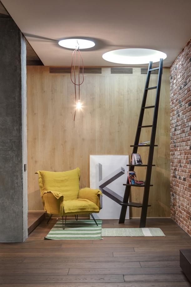 Interiér - Vzdušnost + útulnost = byt kyjevského ateliéru 2B.group