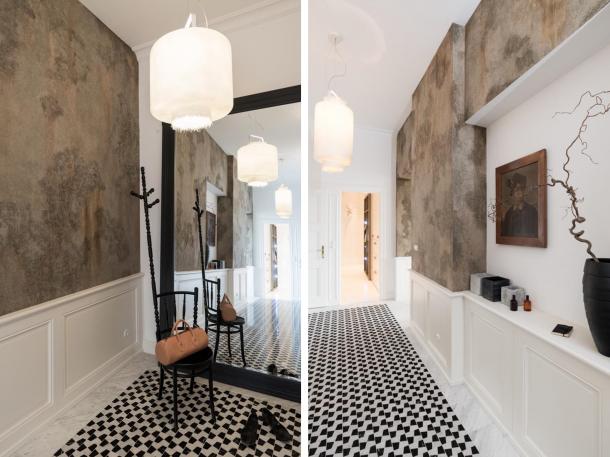 Interiér - Secesní moderna ateliéru OOOOX