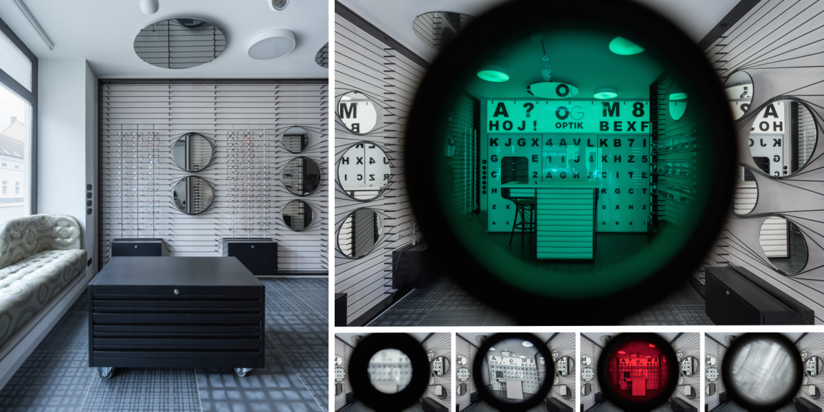 Optika od ateliéru ORA: interiér, ze kterého nespustíte oči