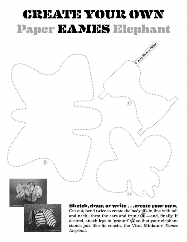 Nábytek - Eames Plywood Elephant: Slon, kterého budou vaši děti milovat
