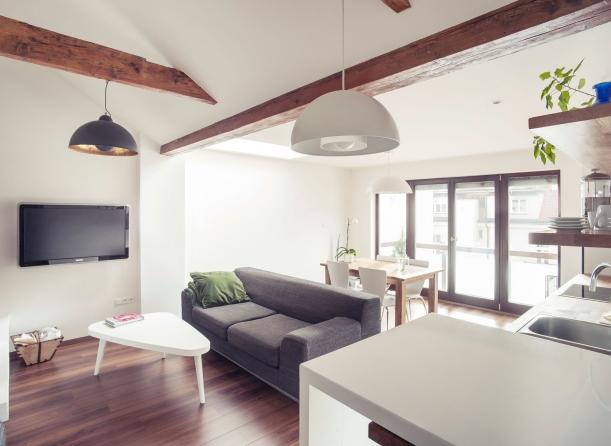 Interiér - Půdní byt od studia B²