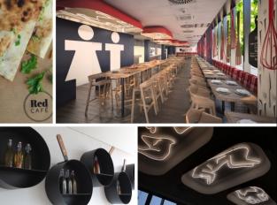 RED CAFE: Prostor nasycený jídlem