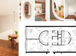 BY architects ukazují atypickou přestavbu typického panelákového bytu