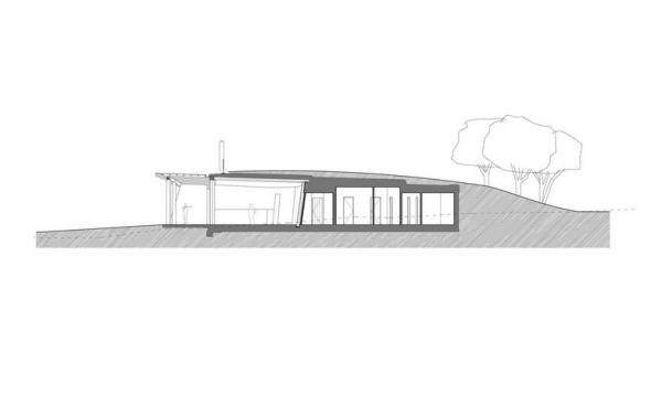 Bar / restaurace / café - Čertovo břemeno: Když architektura vzdává hold přírodě