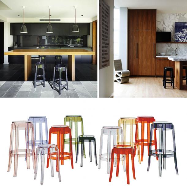 Nábytek - Od trubky až k balerínkám, aneb osvobozené tvary kuchyňských stoliček