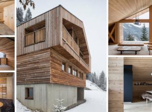 Horská chata v Alpách: tradiční architektura v moderním pojetí