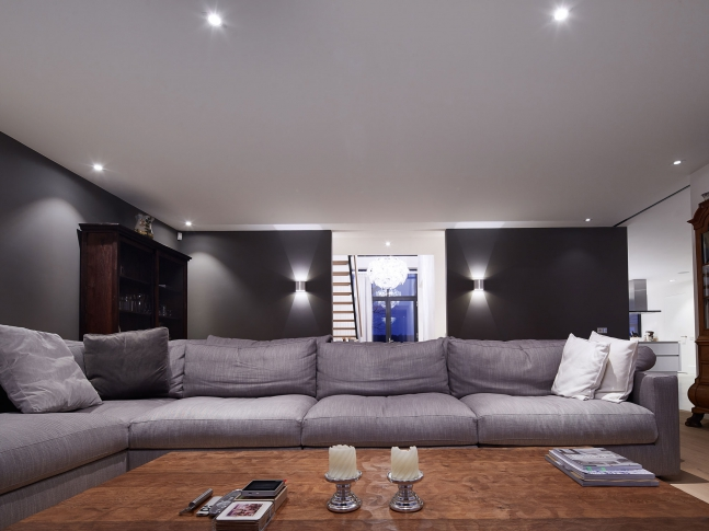 Woonhuis te Almelo - obývací pokoj
