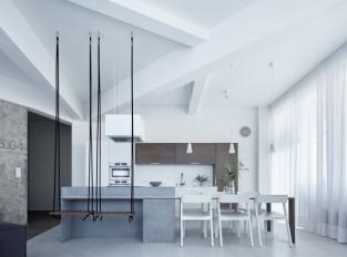 Cementová stěrka - podlaha obývací část