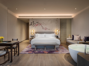 Ložnice hotelu Banyan Tree Anji