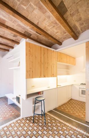 Byt v pasáži Dos de Maig - kuchyň