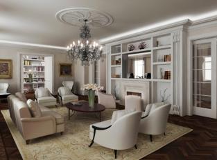 Villa Schweiger - obývací pokoj