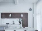 Cementová stěrka - podlaha obývací část Cementová stěrka Microtopping v obývací části, dodavatel BOCA Praha.