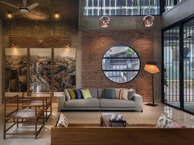 Clay Roof House - obývací pokoj