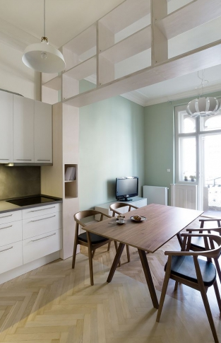 byt Vinohrady - tři barvy, tři pokoje