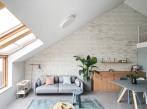 Starburst House - obývací pokoj