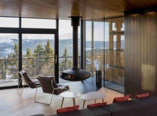 Cabin Kvitfjell - obývací pokoj