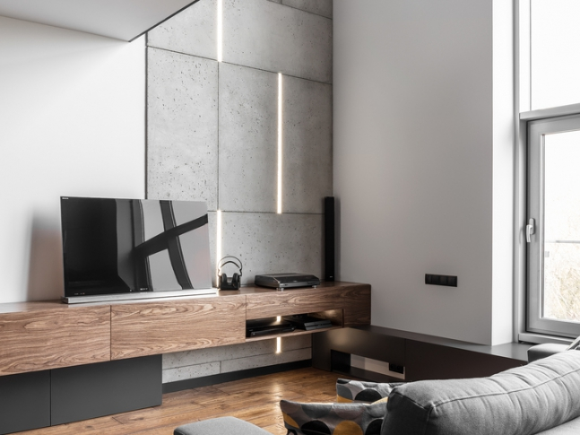 Byt pro pána nebo dva - obývací pokoj