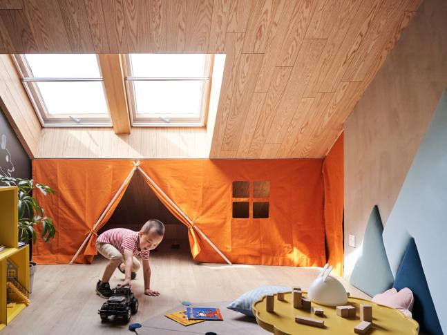 Starburst House - dětský pokoj