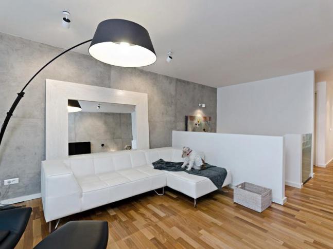 Cornlofts Šaldova / obývací pokoj