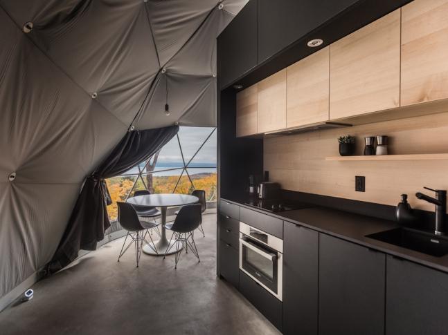 Dômes Charlevoix - kuchyň