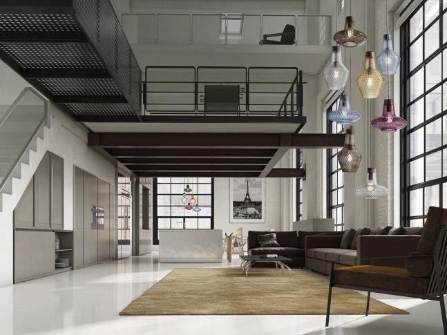 Loftový byt se světly od Zafferano