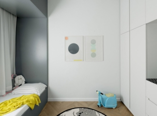 Bauhaus v Tel Avivu - dětský pokoj