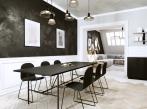 Černobílý apartmán - jídelna