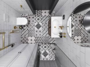 Byt ve Vilniusu - koupelna
