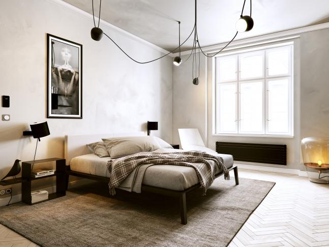 Černobílý apartmán - ložnice