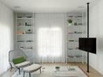 Bauhaus v Tel Avivu - obývací část