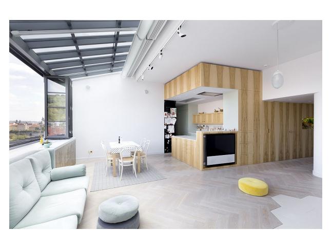 Obývací pokoj bytu architektů A1