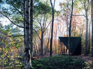 Černá chatka v Hudson Valley