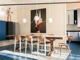 Pařížský byt - jídelna/kuchyň