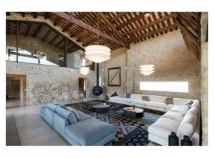 Obývací pokoj domu v Gironě