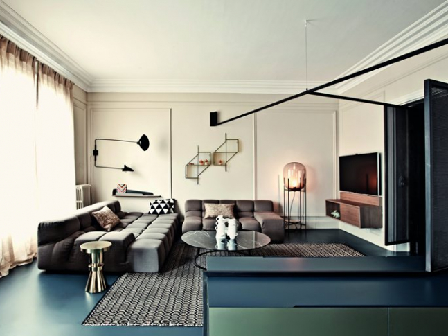 Pařížský byt - obývací pokoj