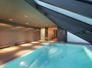 Bazén v rodinném domě Hanspaulka