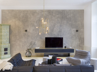 Obývací pokoj na Pařížské