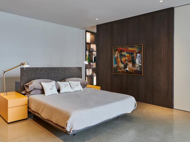 Ložnice bytu v Montrealu