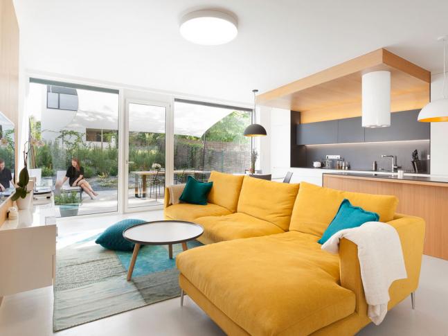 White&color, interier rodinného domu