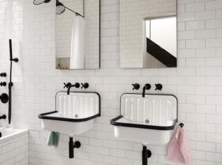 Brooklynský řadový domek - koupelny