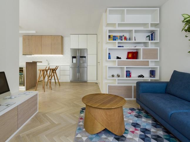 Byt Praha 3 - Obývací pokoj