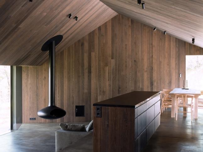 Norská lyžařská chata - interiér