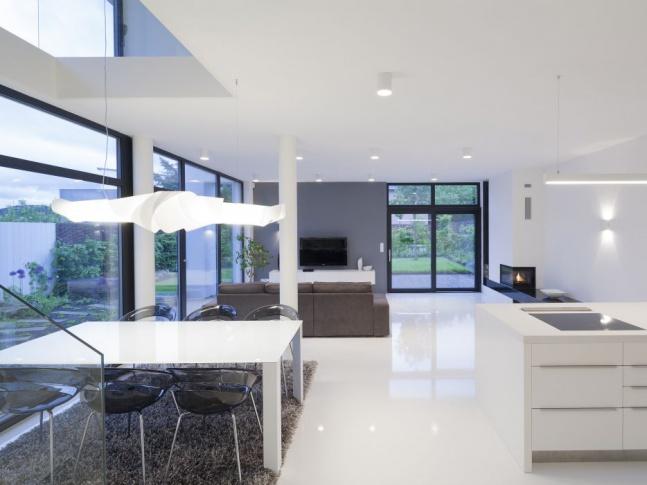 RD Černošice - obytný prostor Celkový pohled do obývacího pokoje