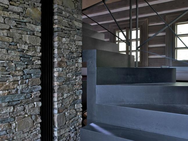 Chalupa v Orlických horách - schodiště